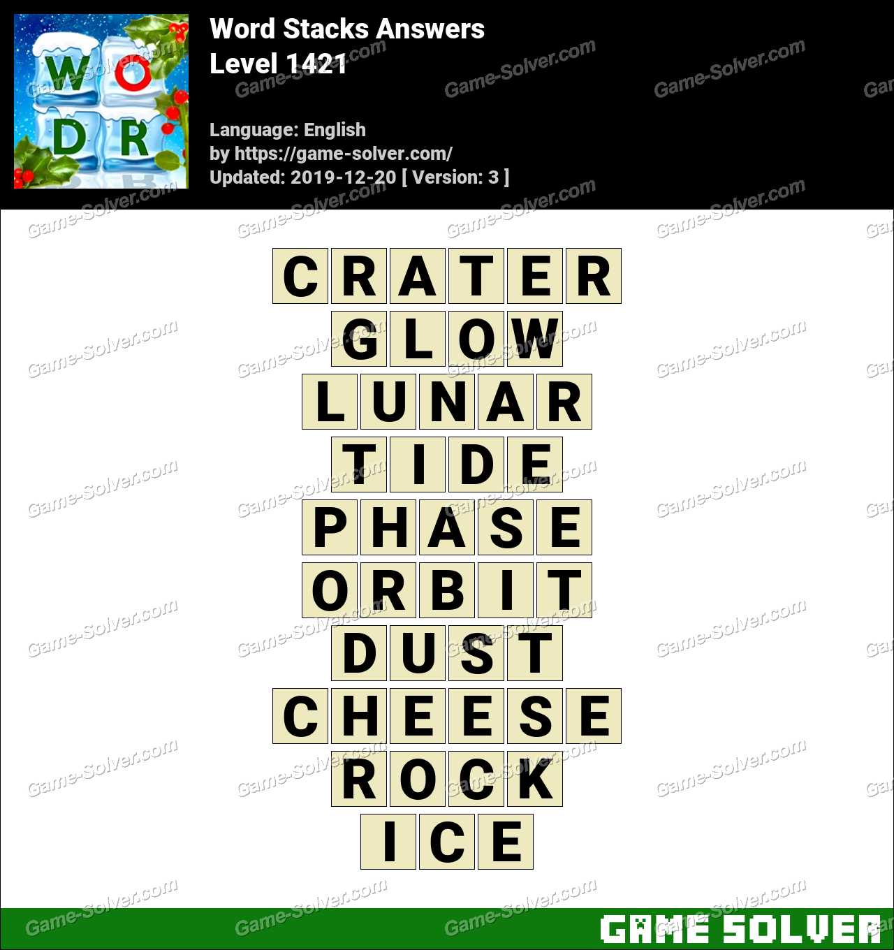 Word Stacks Level 1421 Answers