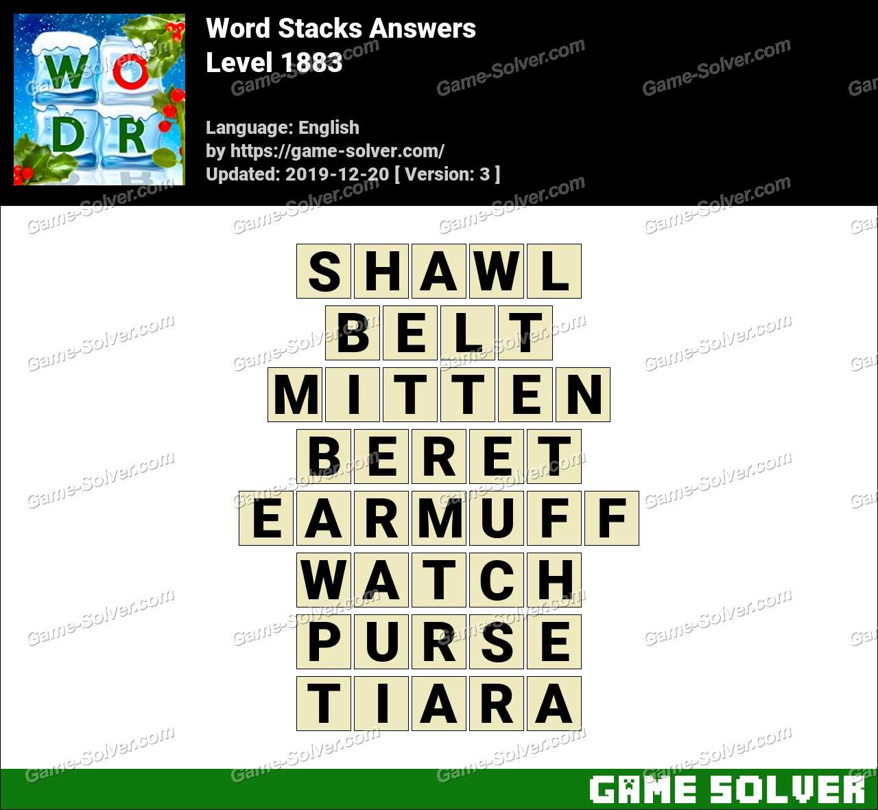 Word Stacks Level 1883 Answers