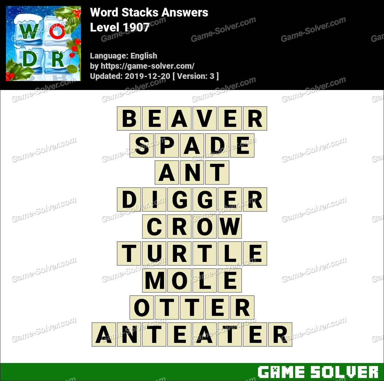 Word Stacks Level 1907 Answers