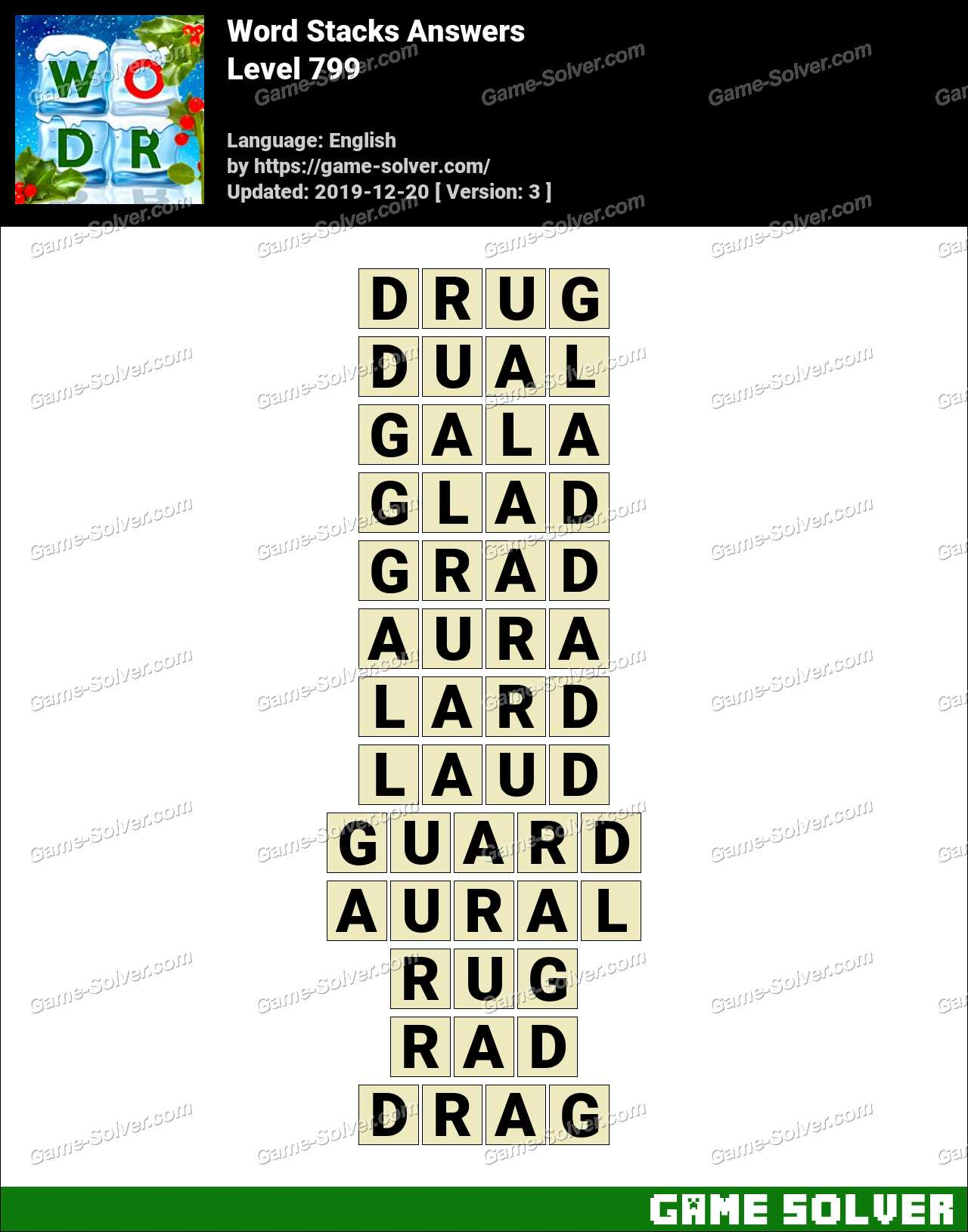 Word Stacks Level 799 Answers