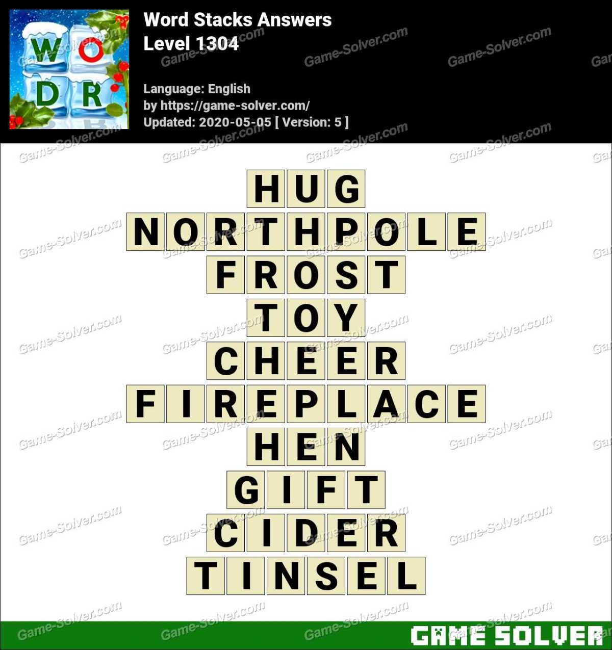 Word Stacks Level 1304 Answers