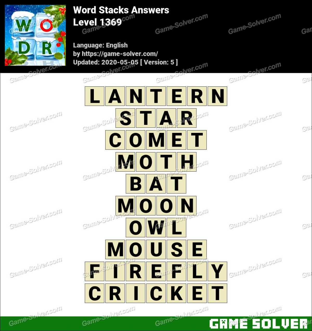 Word Stacks Level 1369 Answers