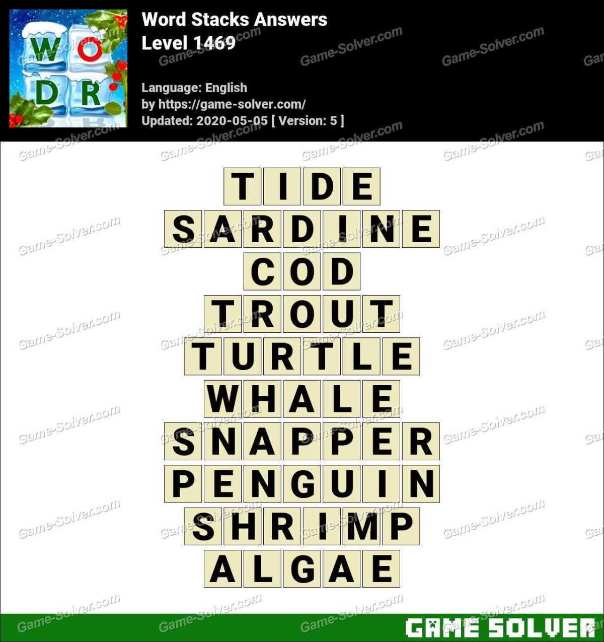 Word Stacks Level 1469 Answers