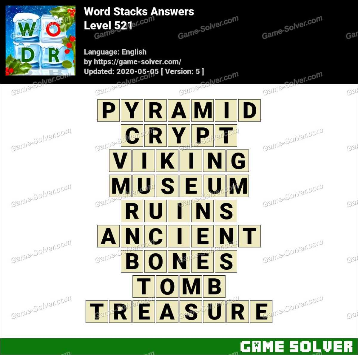Word Stacks Level 521 Answers