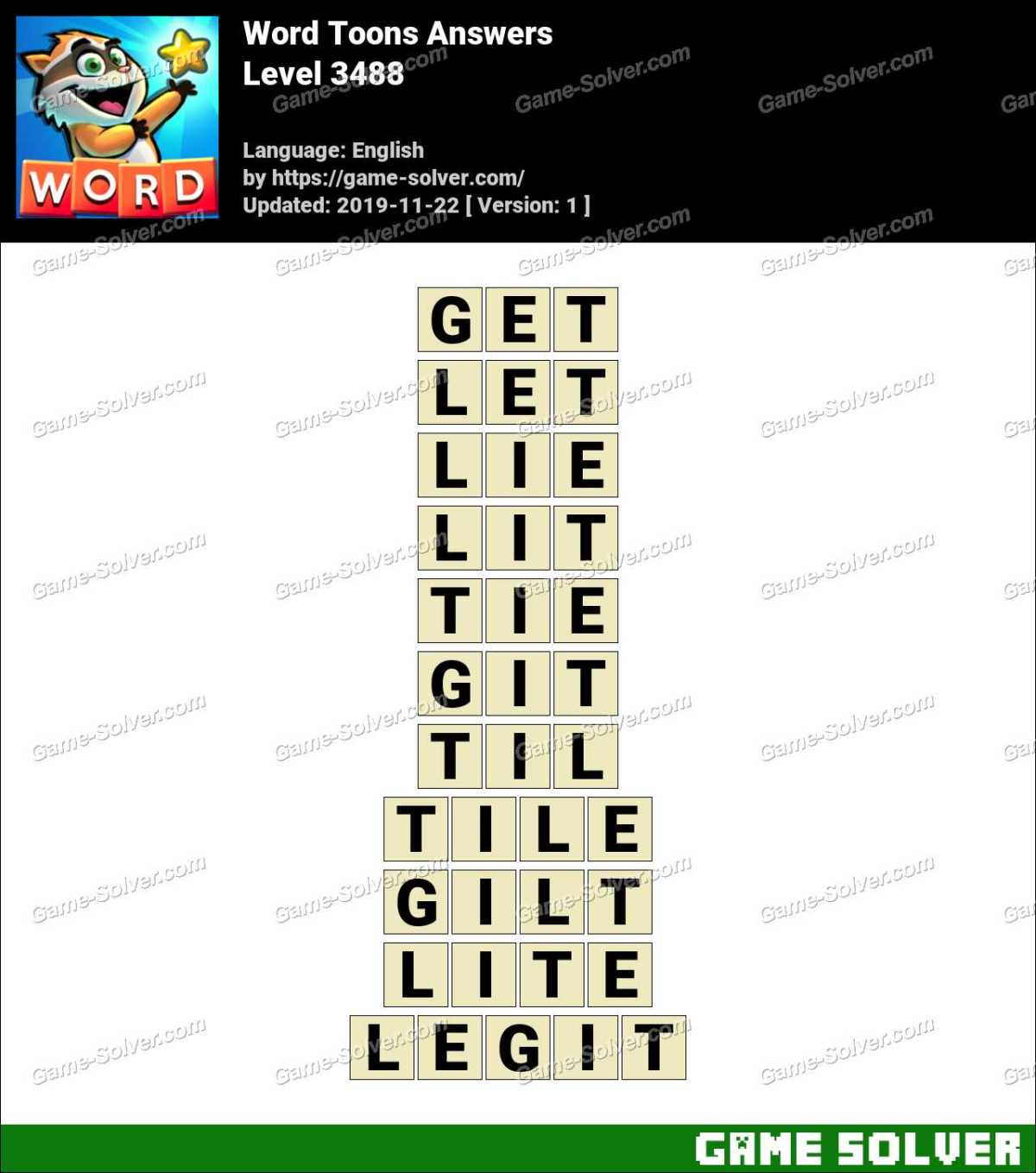 Word Toons Level 3488 Answers