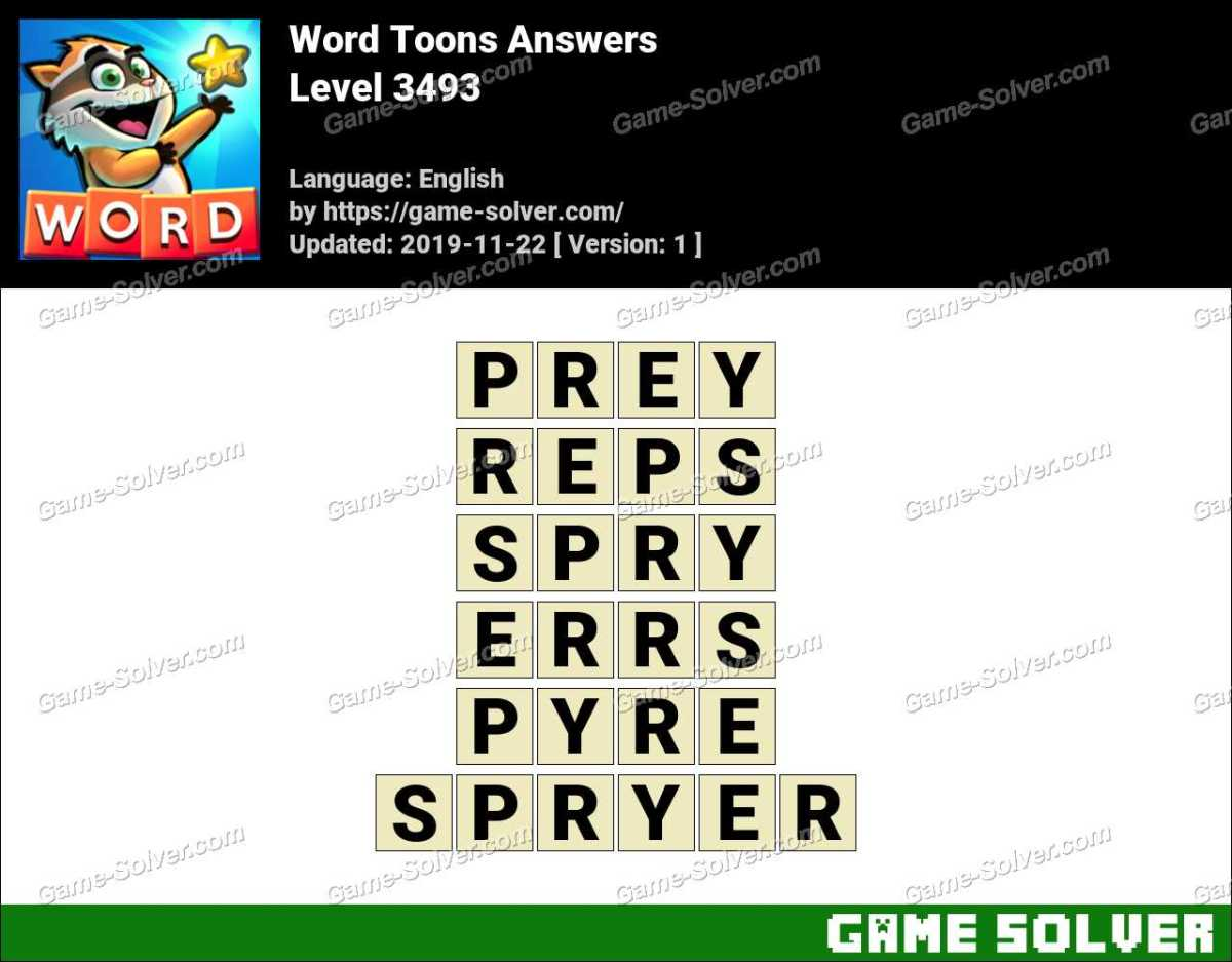 Word Toons Level 3493 Answers
