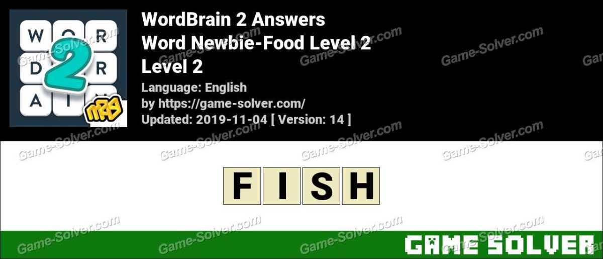 Word Newbie-Food Level 2 Answers