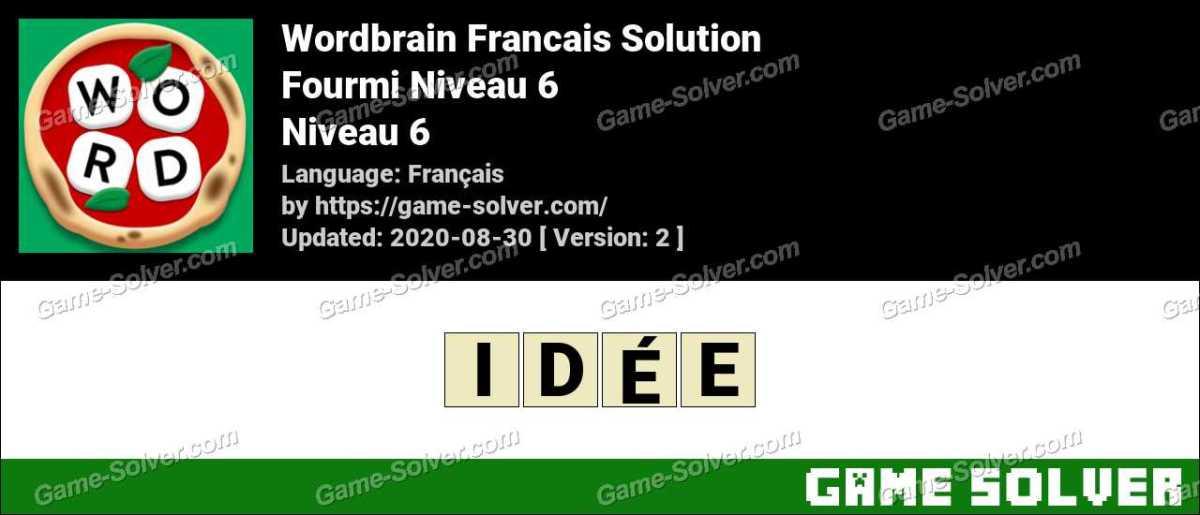 WordBrain Français Fourmi Niveau 6
