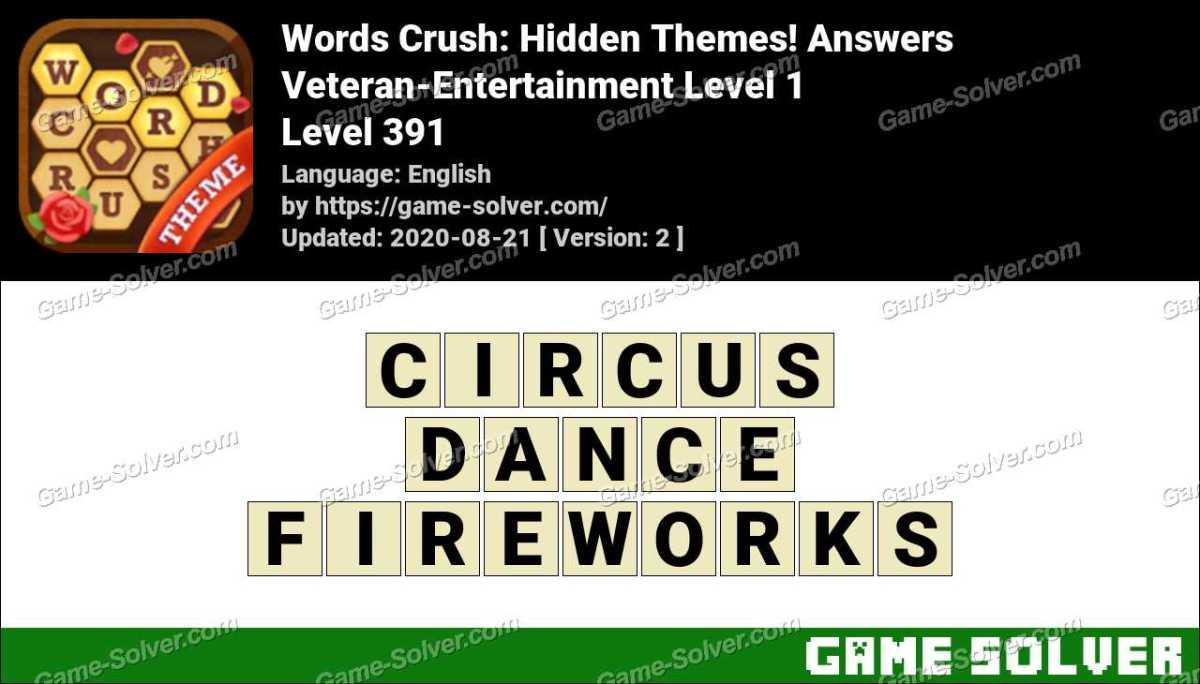 Words Crush Veteran-Entertainment Level 1 Answers