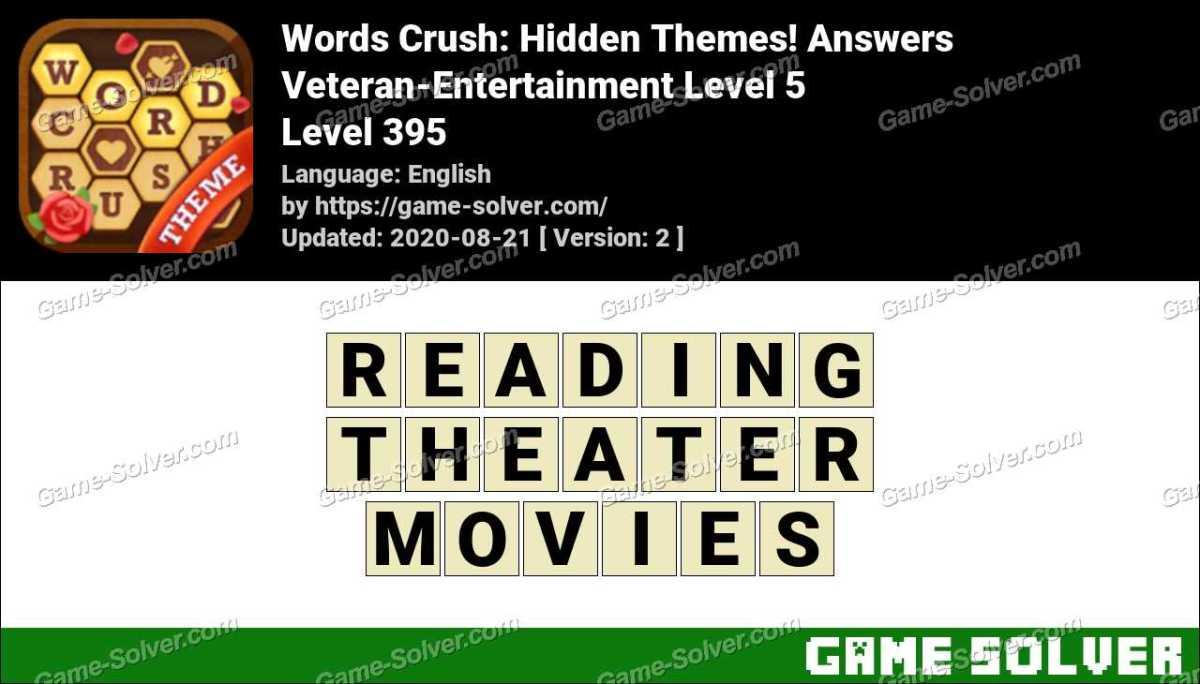 Words Crush Veteran-Entertainment Level 5 Answers