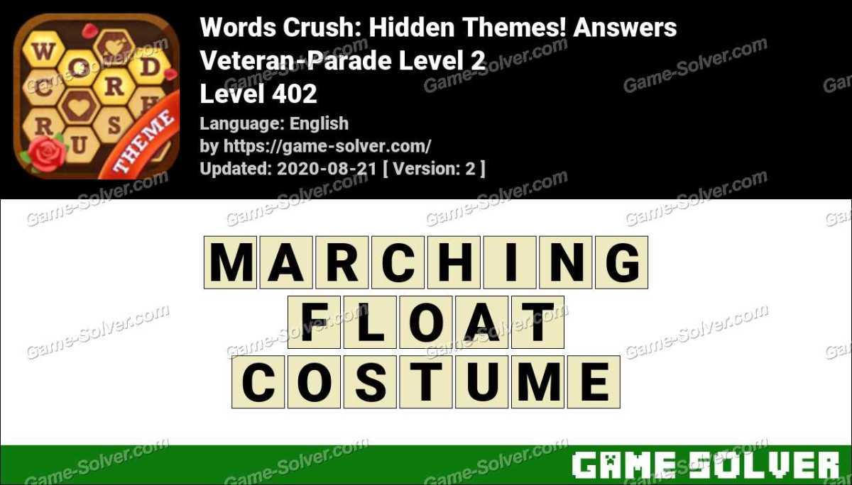 Words Crush Veteran-Parade Level 2 Answers