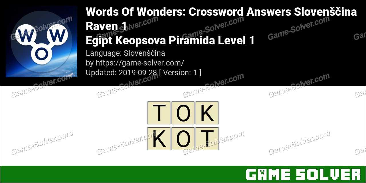 Words Of Wonders Egjipt-Piramida E Gizes Level 1 Answers