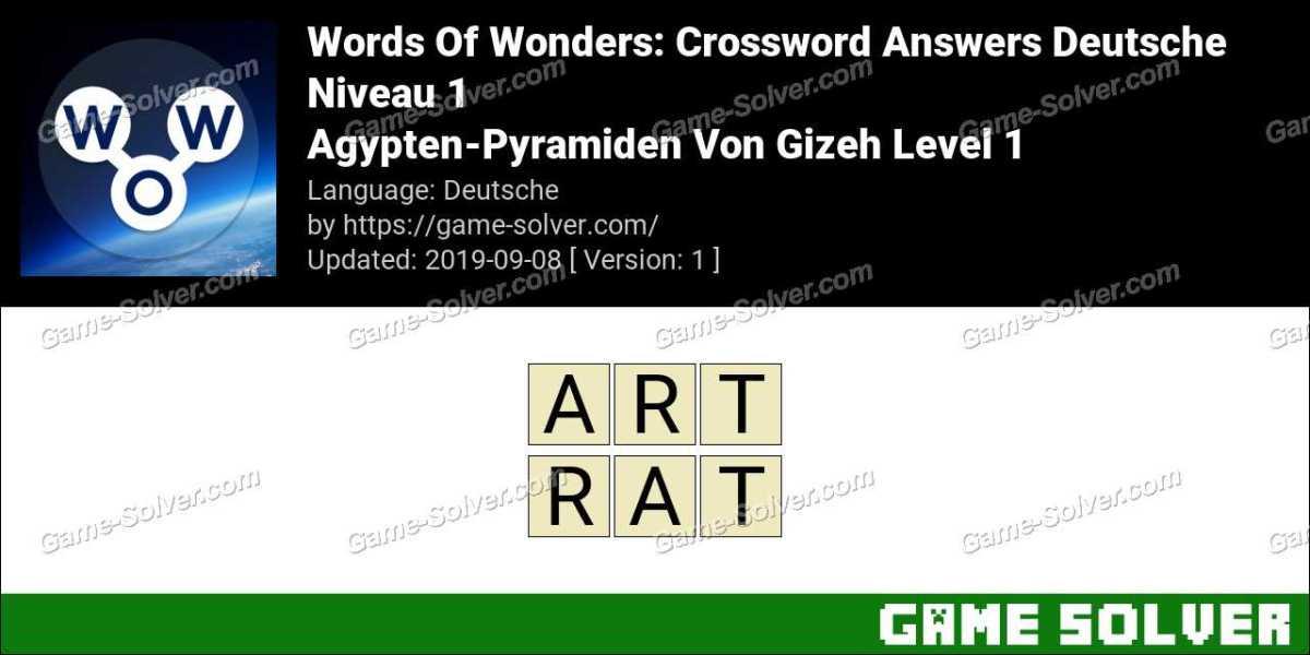 Words Of Wonders Agypten-Pyramiden Von Gizeh Level 1 Answers