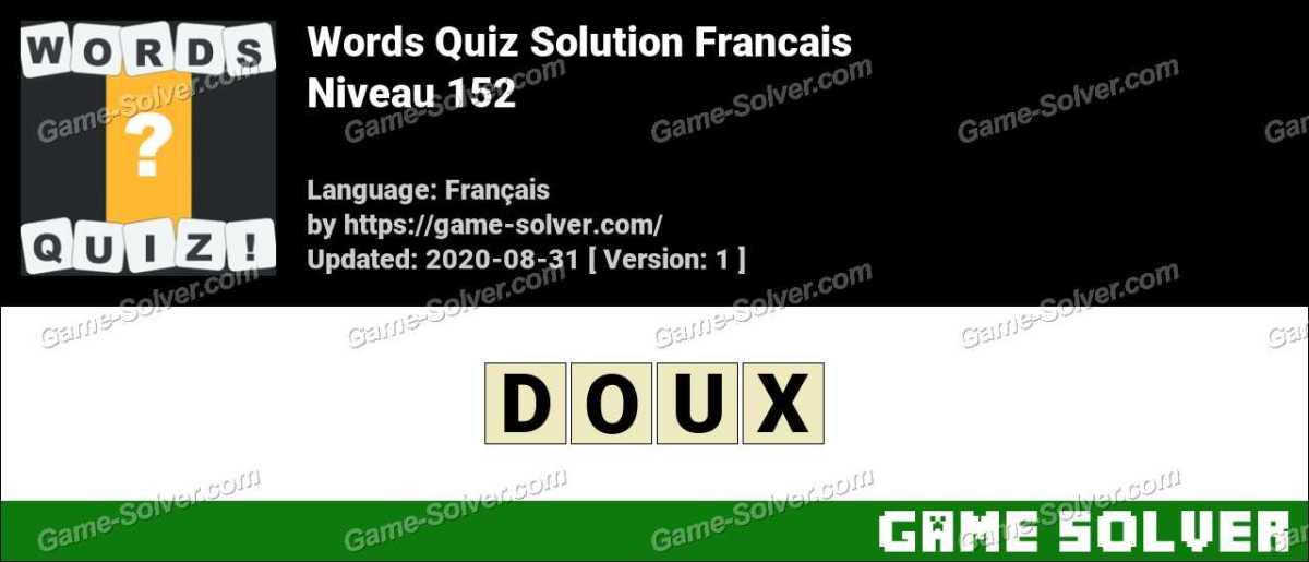 Words Quiz Francais Niveau 152