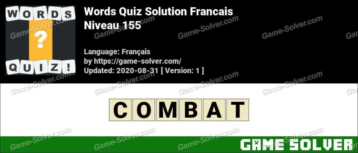 Words Quiz Francais Niveau 155