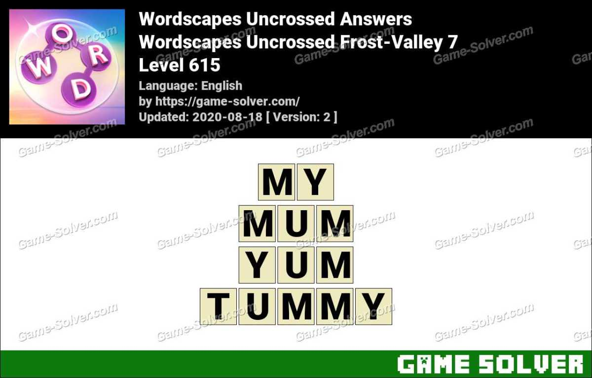Wordscapes Uncrossed Frost-Valley 7 Answers