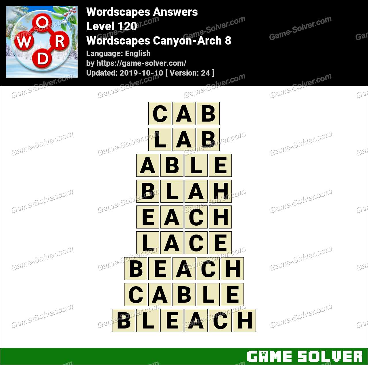 Wordscapes Canyon-Arch 8 Answers