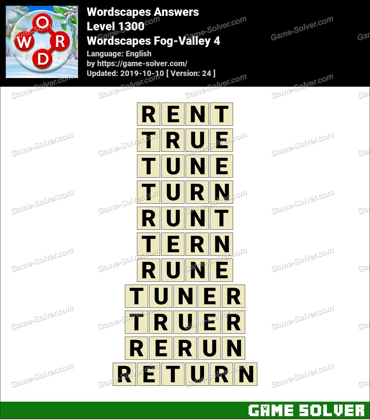 Wordscapes Fog-Valley 4 Answers