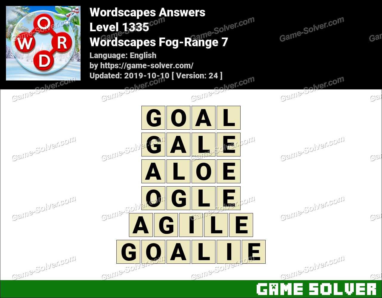Wordscapes Fog-Range 7 Answers