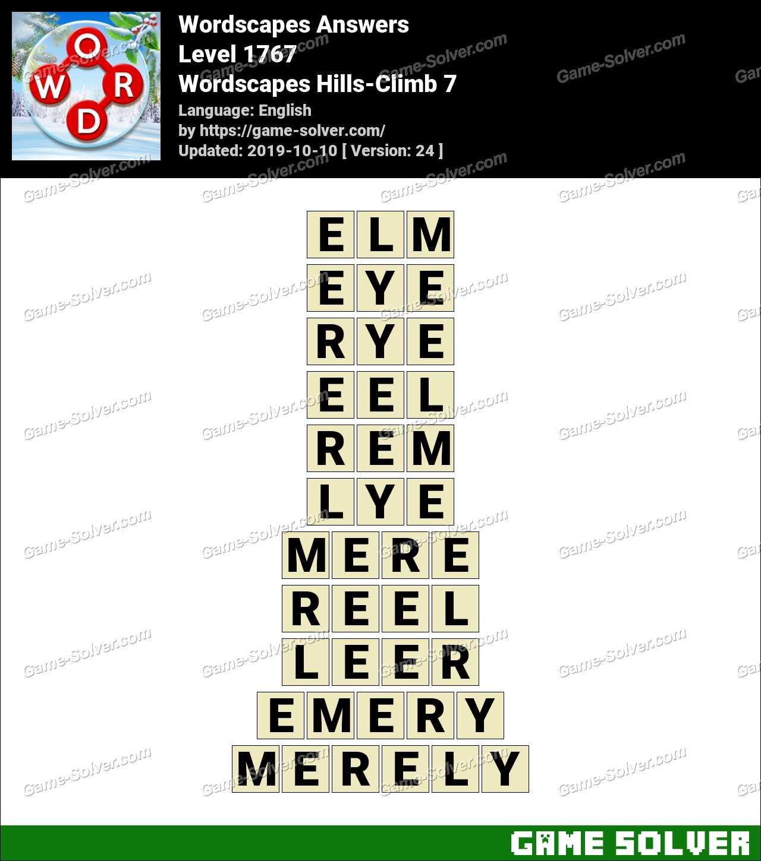 Wordscapes Hills-Climb 7 Answers