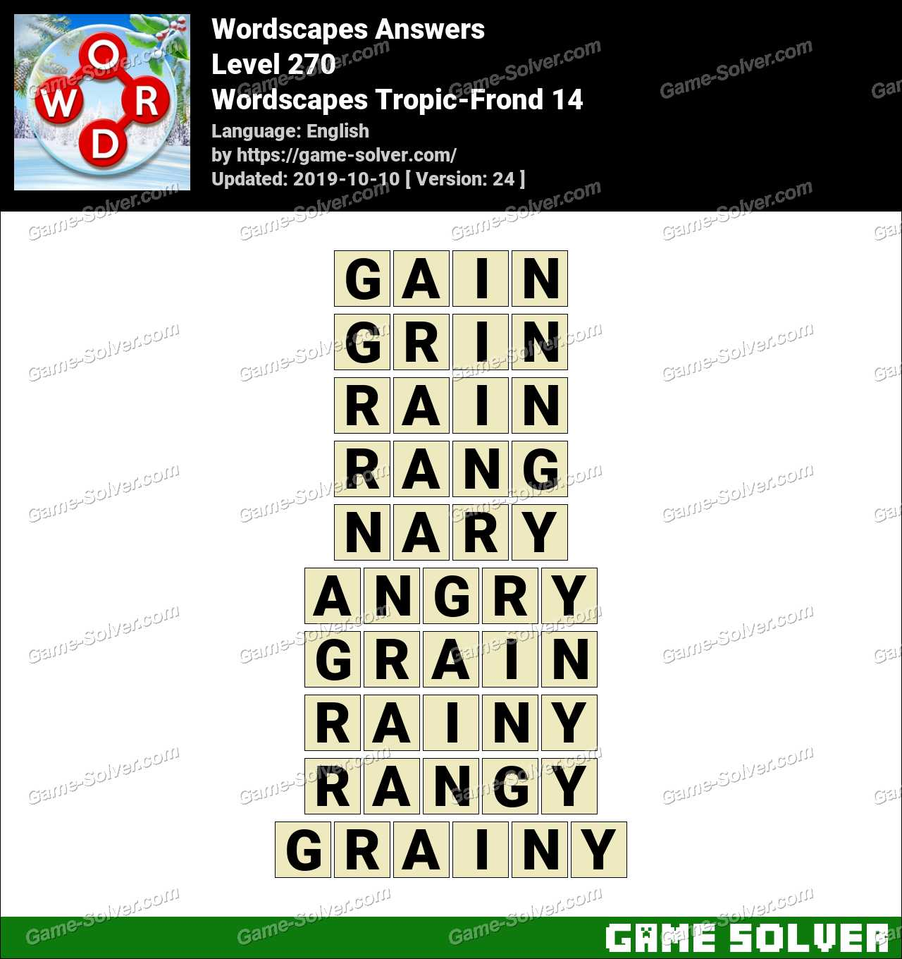 Wordscapes Tropic-Frond 14 Answers