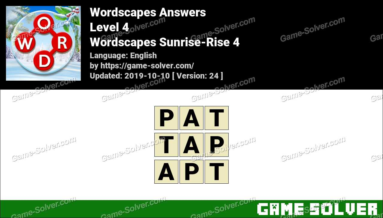 Wordscapes Sunrise-Rise 4 Answers