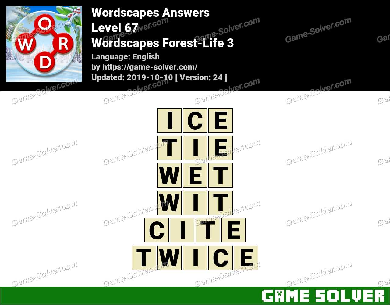 Wordscapes Forest-Life 3 Answers