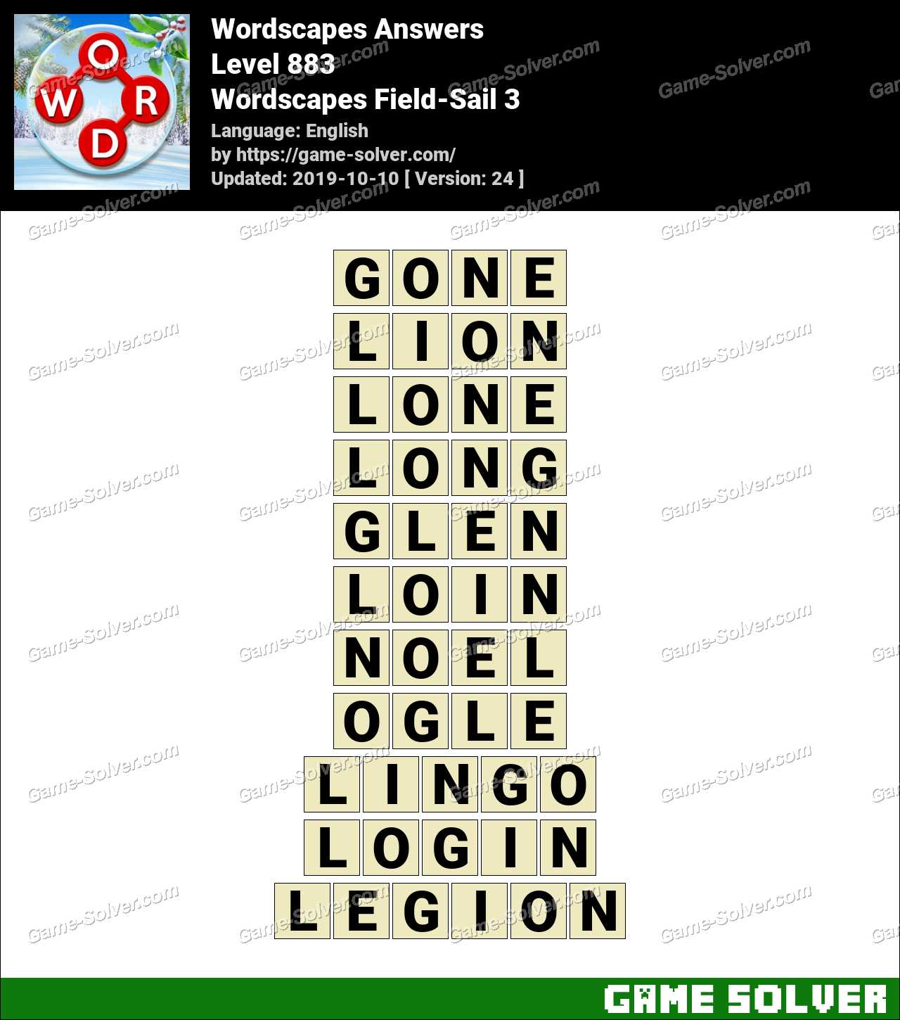 Wordscapes Field-Sail 3 Answers