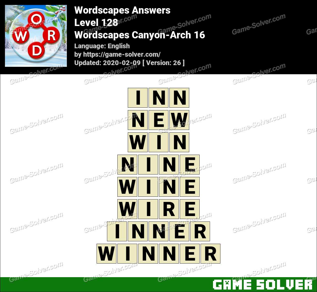 Wordscapes Canyon-Arch 16 Answers
