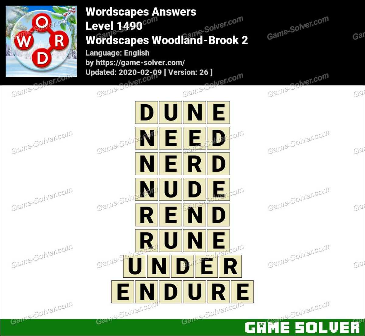 Wordscapes Woodland-Brook 2 Answers