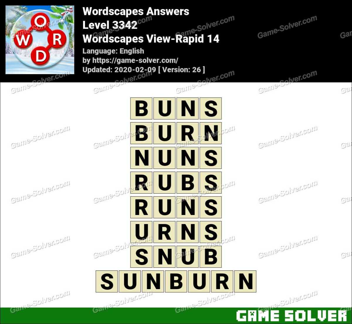 Wordscapes View-Rapid 14 Answers