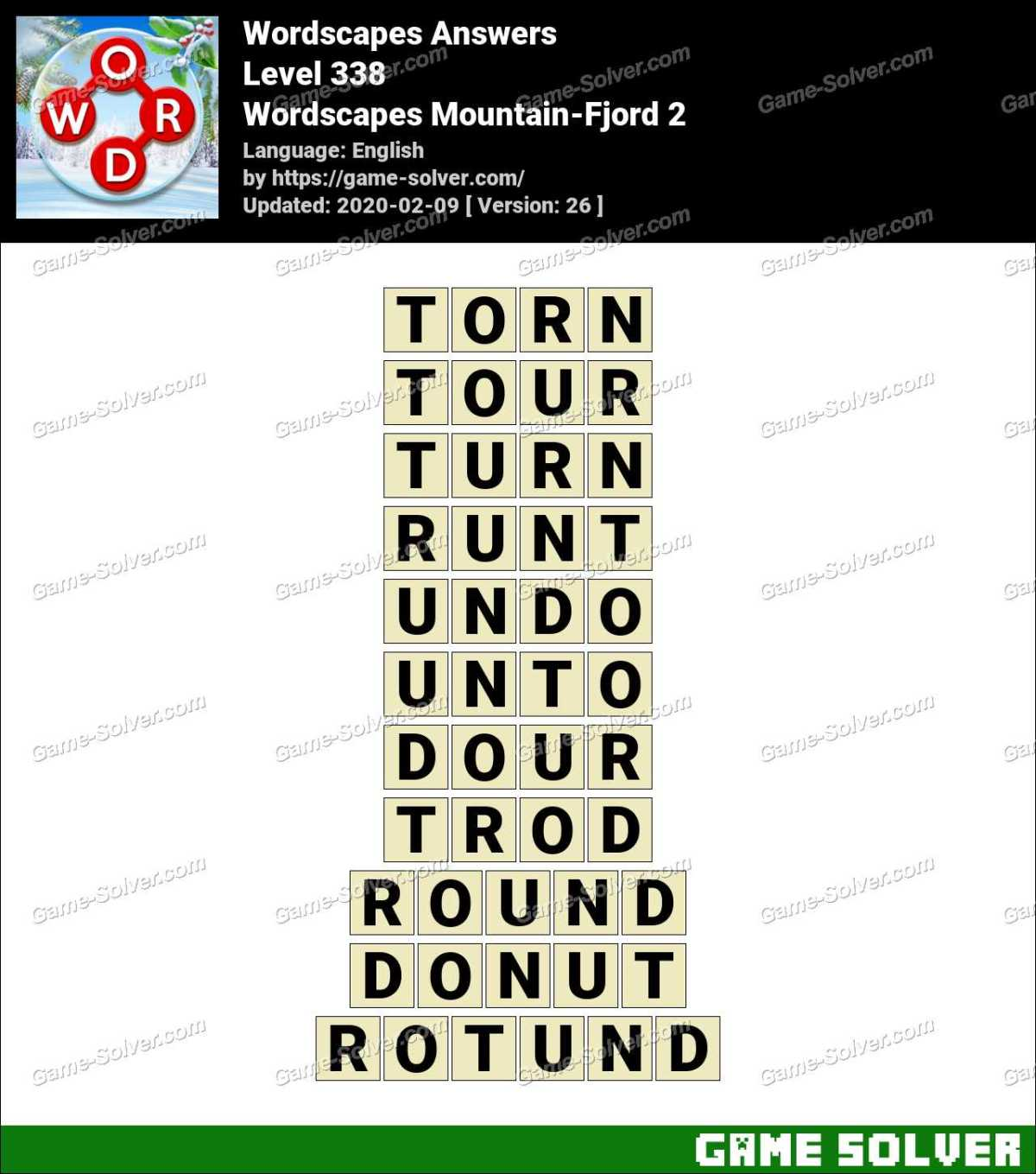 Wordscapes Mountain-Fjord 2 Answers