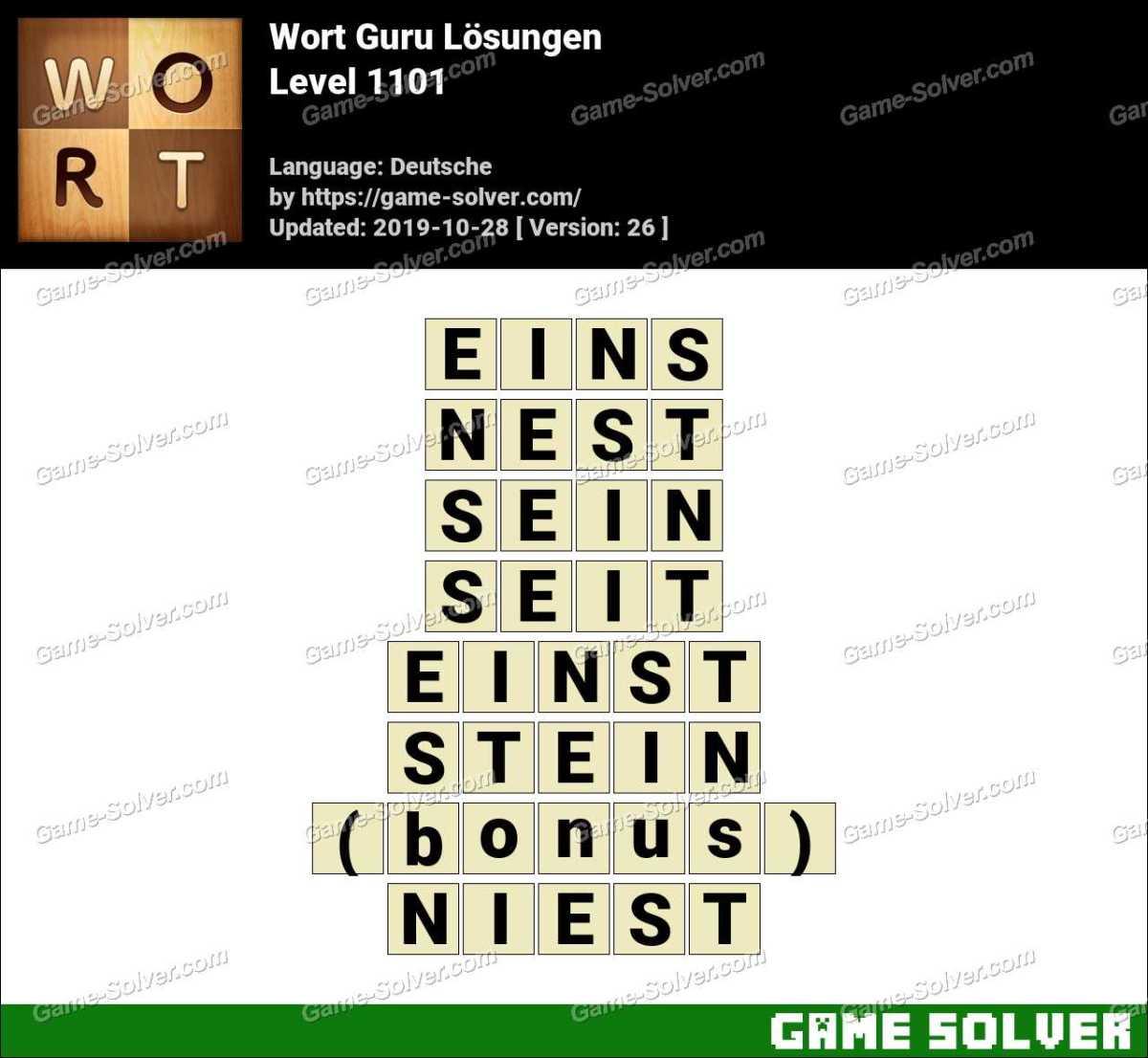 Wort Guru Level 1101 Lösungen