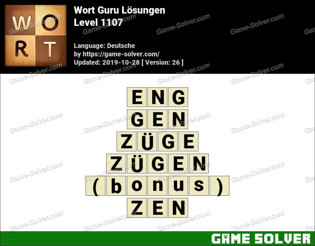Wort Guru Level 1107 Lösungen