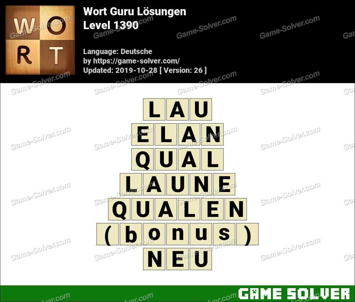 Wort Guru Level 1390 Lösungen