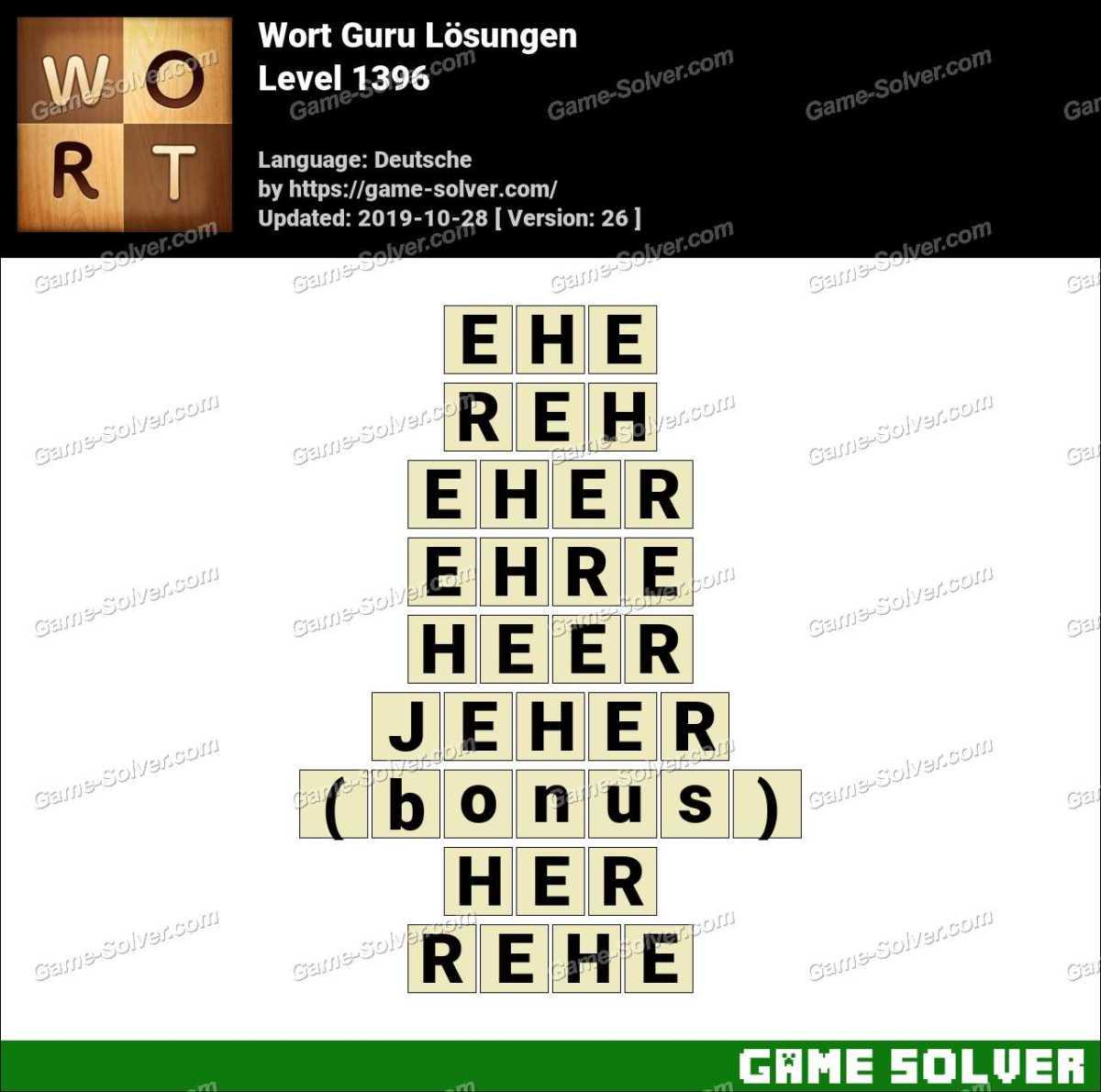 Wort Guru Level 1396 Lösungen