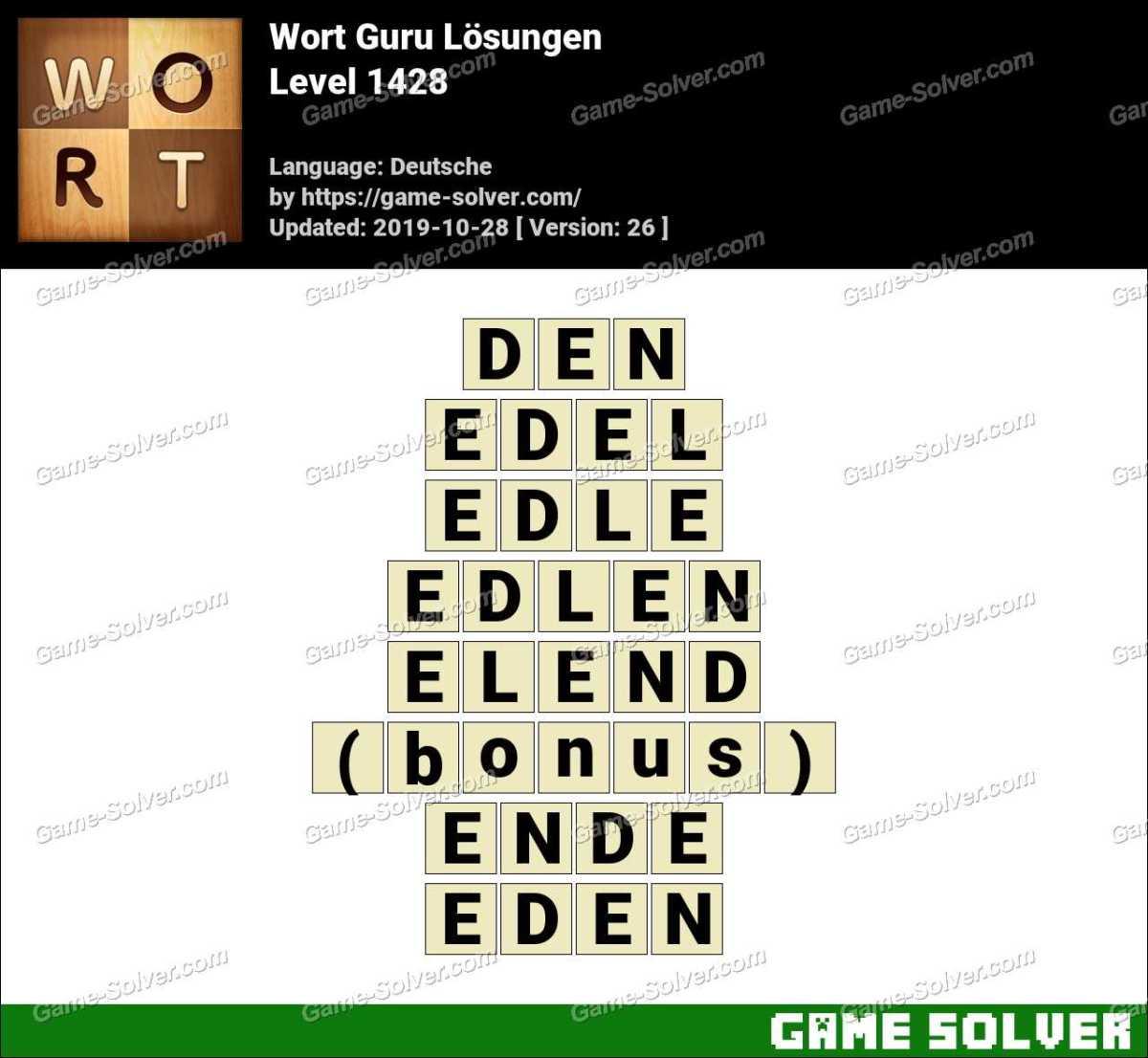 Wort Guru Level 1428 Lösungen