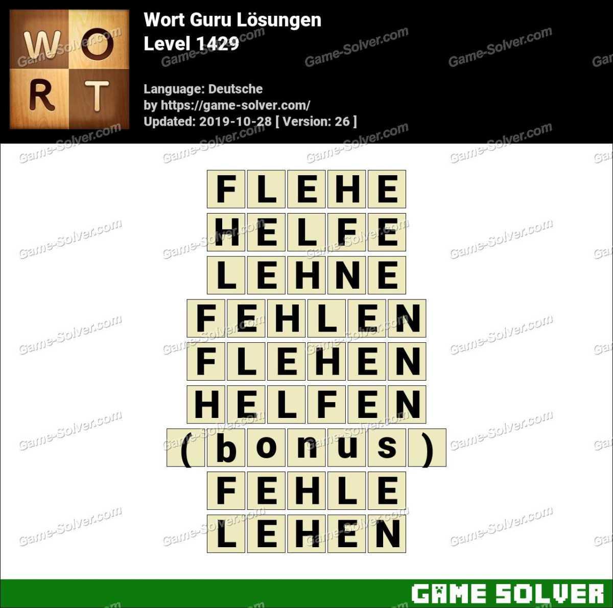 Wort Guru Level 1429 Lösungen