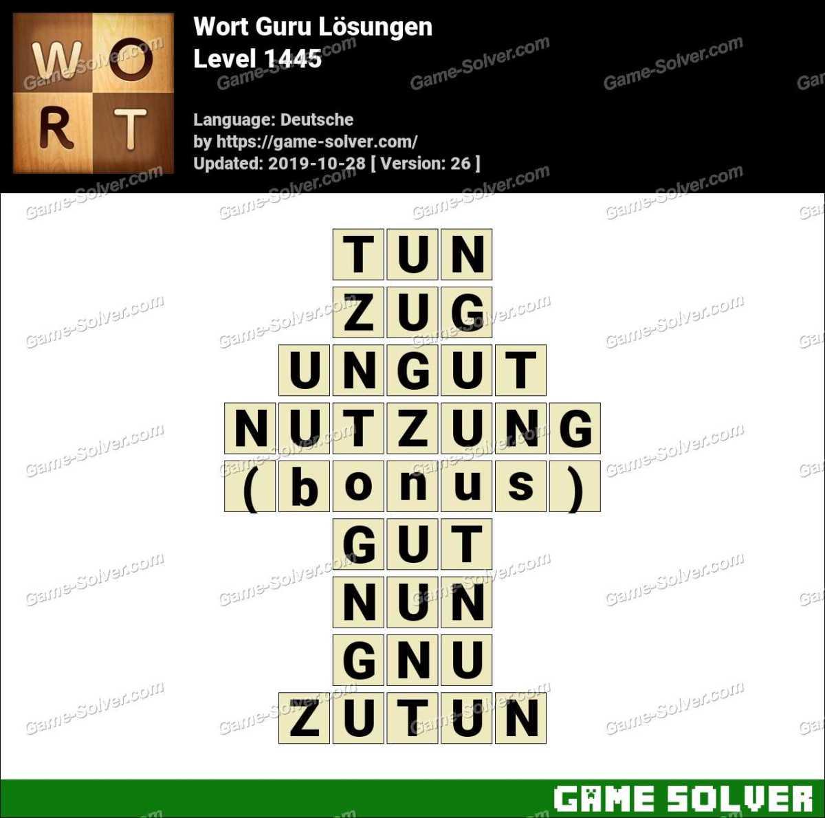 Wort Guru Level 1445 Lösungen