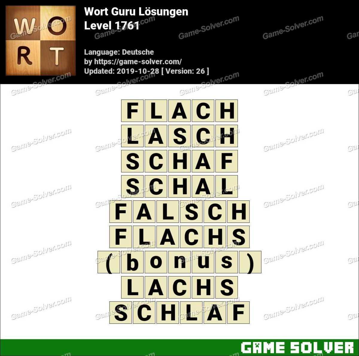 Wort Guru Level 1761 Lösungen