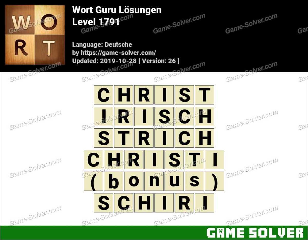 Wort Guru Level 1791 Lösungen