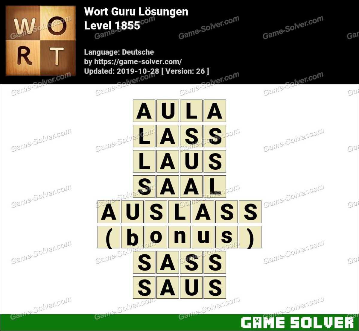 Wort Guru Level 1855 Lösungen