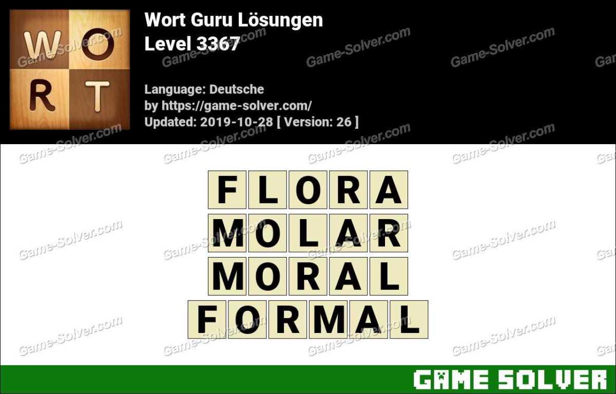 Wort Guru Level 3367 Lösungen