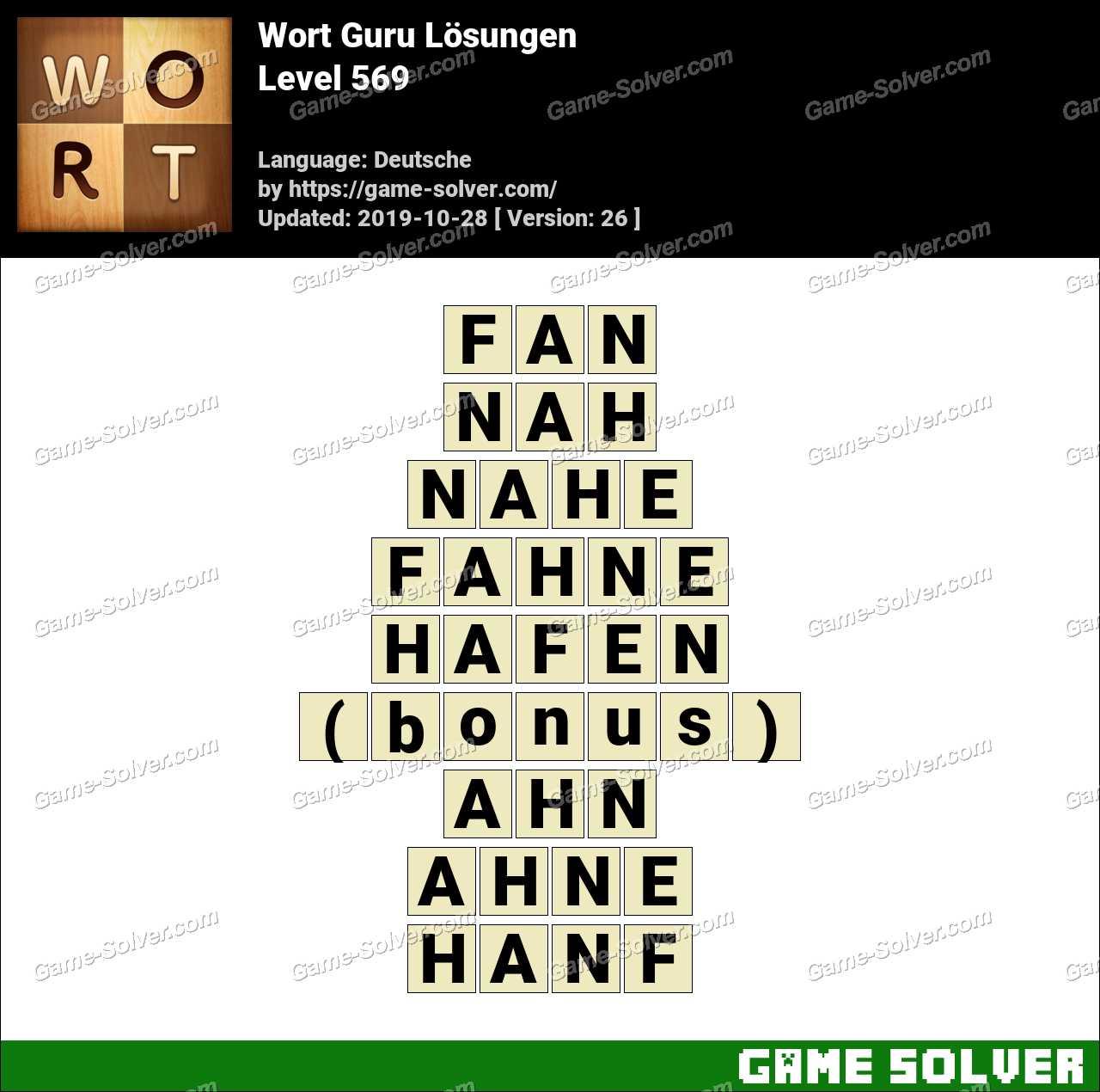 Wort Guru Level 569 Lösungen