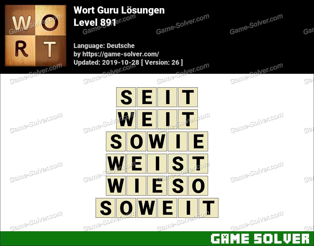 Wort Guru Level 891 Lösungen