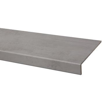 marche en stratifie cando renovation d escalier 100x30 cm beton gris clair
