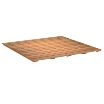 dalle bois dur lisse 100x100 cm
