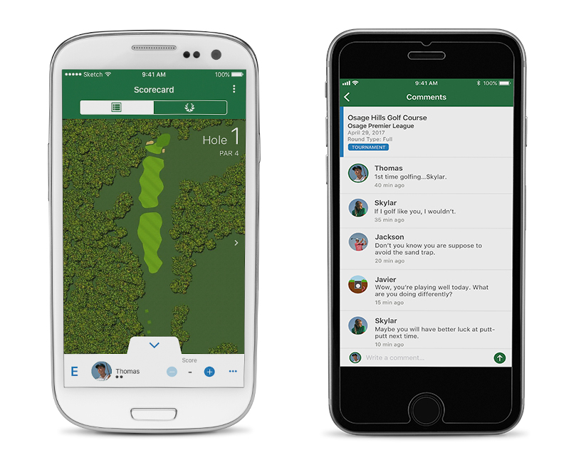 Compatible with the Garmin Golf™ App