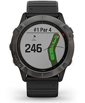 fēnix 6X Pro & Sapphire med skjermbilde for golfbaner