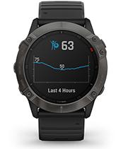 fēnix 6X Pro & Sapphire med skjermbilde for Body Battery-energimåling